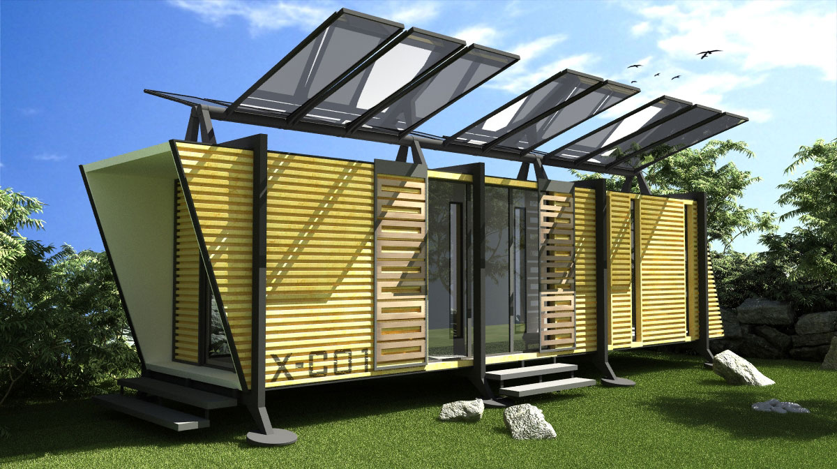 10 examples of energy efficient container homes for Solar energy house designs