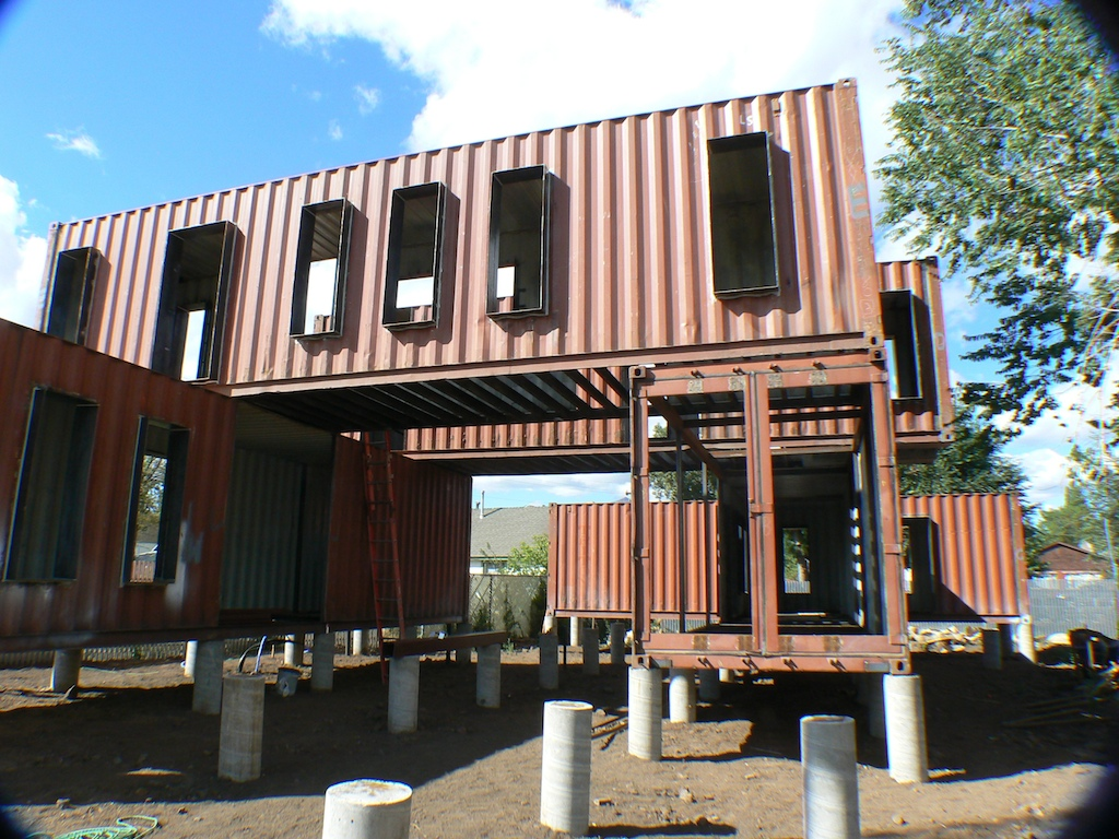 10 examples of large shipping container homes container for House design and construction