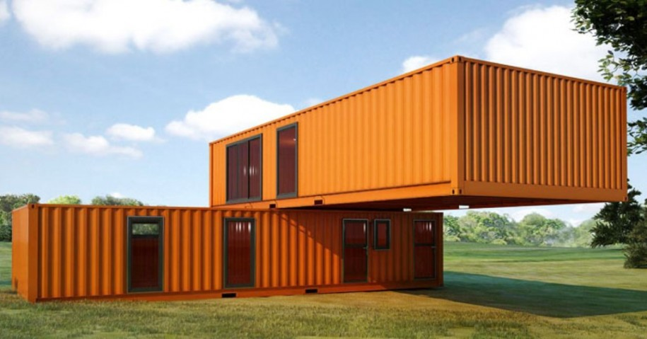 5 bright orange container homes container living. Black Bedroom Furniture Sets. Home Design Ideas