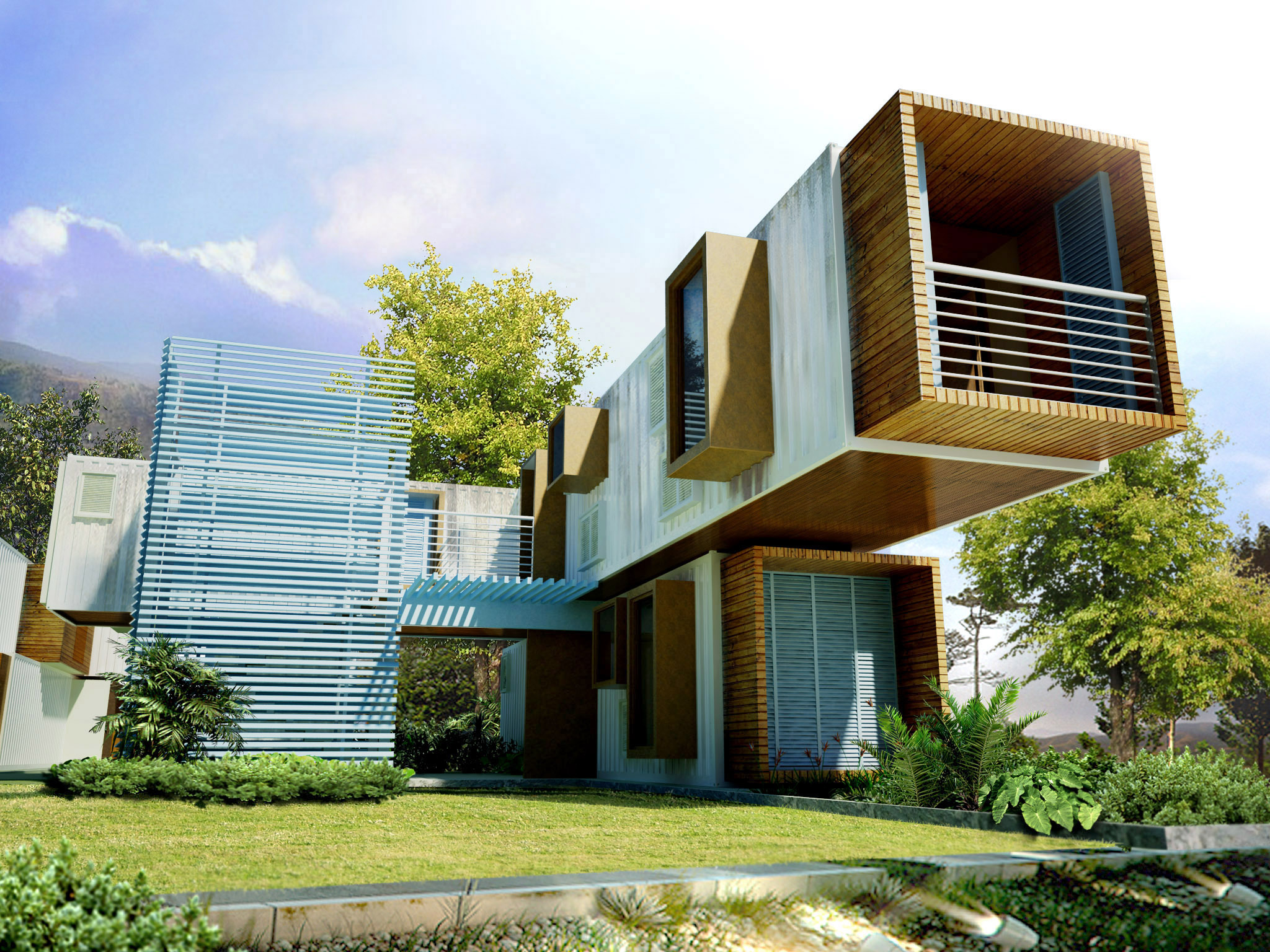 9 inspiring modular container home designs container living for Architectural plans for homes
