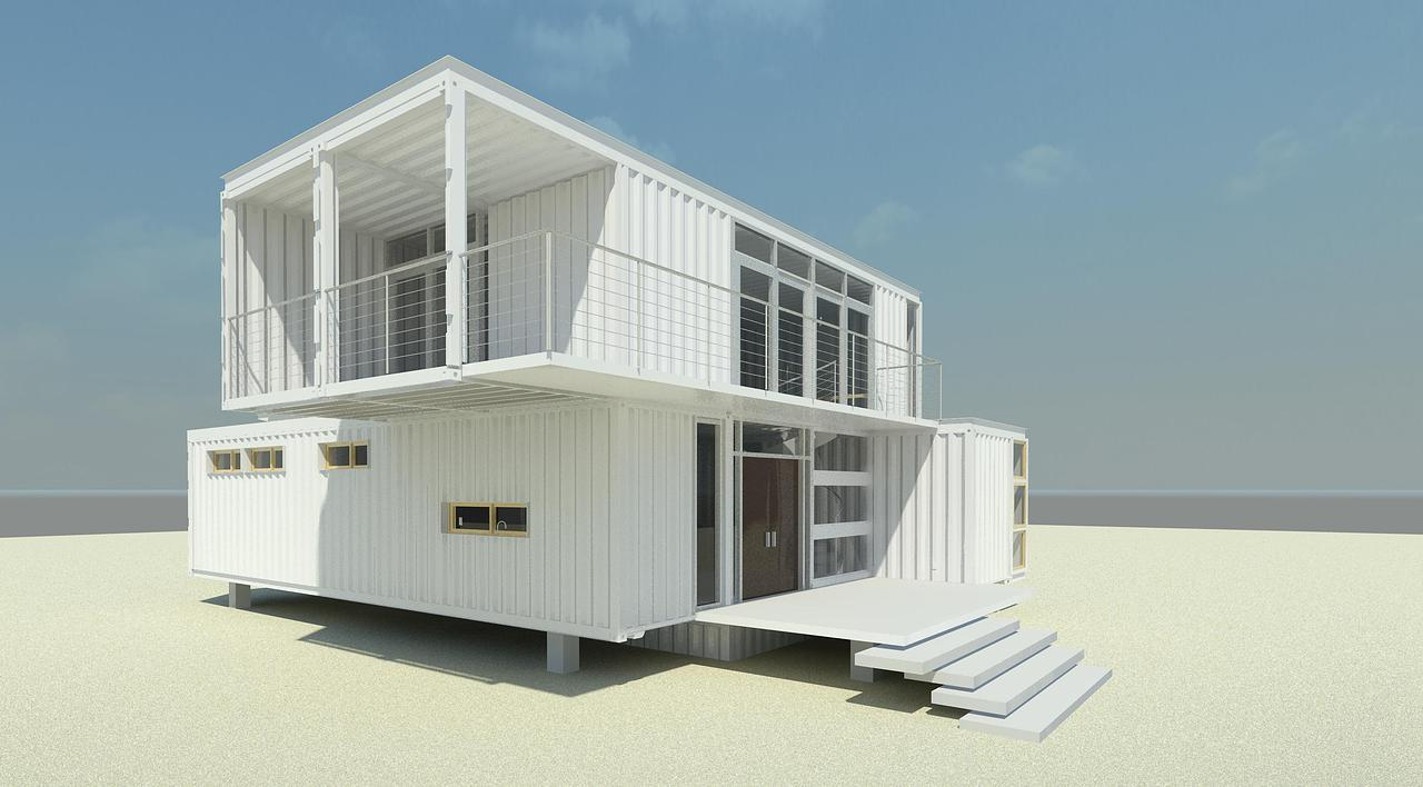 2 Story Container Homes 1 White As Snow